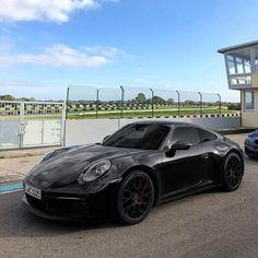Blacked out spec is very popular! Porsche Carrera, Porsche 911, Black Porsche, Porsche Sports Car, New Sports Cars, Exotic Sports Cars, Sport Cars, Exotic Cars, Porsche Collection
