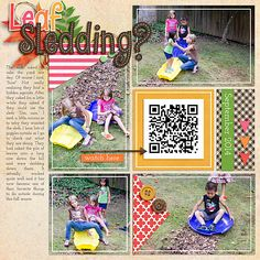 Scrapbook Page with QR Code