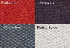 Platina Röd / Platina Lila / Platina Denim / Platina Beige Från Hovden Platina Red / Platina Purple / Platina Denim / Platina Beige From Hovden