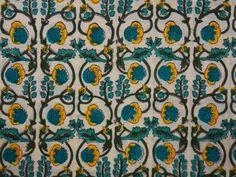 Green Floral Print Fabric Cotton Fabric Printed by PaislyPrint Floral Print Fabric, Floral Prints, Happy Emotions, Dabu Print, Indian Fabric, Modern Traditional, Green Backgrounds, Printing Process, Printed Cotton