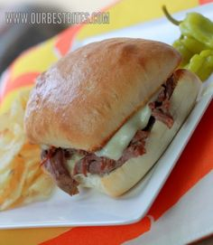 Pepperoncini Beef Sandwiches from Our Best Bites