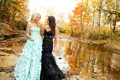 Senior BFF session- this is a prom picture but thought it would be cool and fun to get all dressed up with my BFF and go out to take pics!