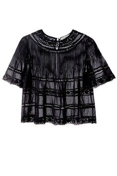 Check cropped and lace off your spring trend checklist with this Étoile Isabel Marant top