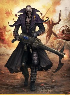 An Eldar  Harlequin, playing the role of Slaanesh the Chaos god (wh 40000)