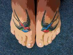 #sparrow #foot #tattoo