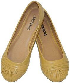 The yellow flats I want for my Mrs. Fox costume. They're vegan ballerina flats. Fantastic!