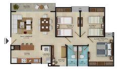 plantas de apartamentos modernos - Buscar con Google