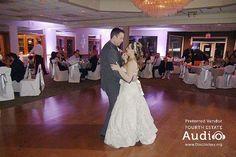A bride and groom share a romantic first Dance at Villa Olivia. http://www.discjockey.org/villa-olivia/