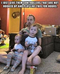 Fatherhood at its best! Haha I showed this to Carson and he said this will definitely be happening with our children