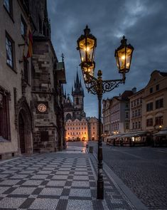 Street Lamp, Prague, Czech Republic