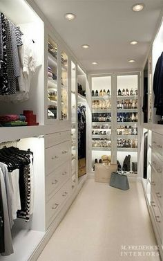 South Shore Decorating Blog...  Consider installing more lights in my Master Closet...