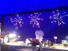 sputnik chandelier from Long Beach Arena opening