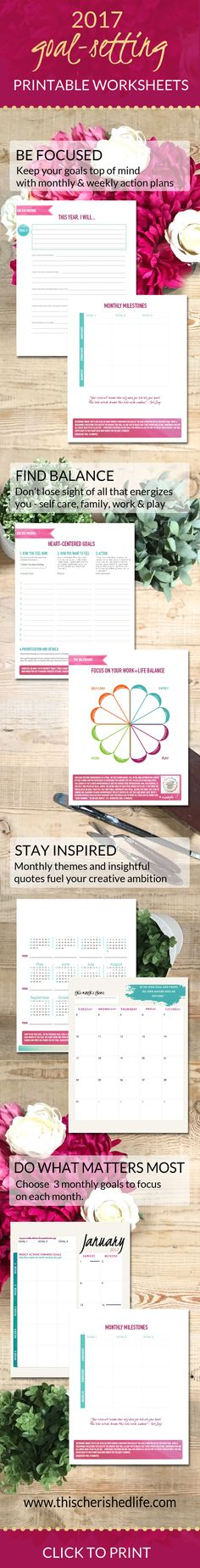 The power of goal-setting with printable goal-setting worksheets for creatives and working moms