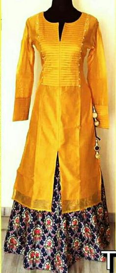 Designer kurtis with digital print skirt