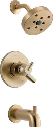 Tub And Shower Faucets, Bathtub Shower, Shower Set, Bathroom Faucets, Delta Trinsic, Fixed Shower Head, Water Patterns, Bronze, Delta Faucets
