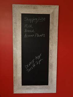 Get organized with a DIY Weathered Wood Chalk Board – find out how on Design Next Door. Moldings And Trim, Weathered Wood, Farmhouse Chic, Decorating On A Budget, Easy Diy Projects, Rustic Style, Getting Organized, Chalkboard, Things To Come