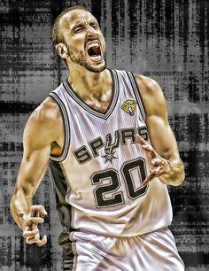 Manu Ginobili, San Antonio Spurs, Yoko, Champion, Tank Man, Mens Tops, Basket, Stickers, Iphone