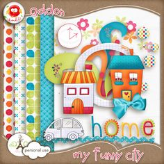 My Funny City mini kit freebie from Chouk77