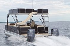 Fifty-plus mph on a double-decker pontoon with its own waterslide? Yes, please.