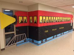 I did this Polar Express for the Christmas door decoration contest at the school I teach at.