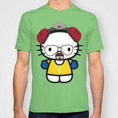 Evil Kitten: Heisen Kitty T-shirt by kxyzle - $22.00