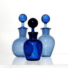 .Blue glass is always beautiful