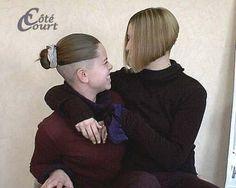 two amazing haircuts Undercut Ponytail, Undercut Hairstyles Women, Short Bob Hairstyles, Cool Hairstyles, Shaved Hair Cuts, Shaved Nape, Short Hair Cuts, Short Hair Styles, Celebrities With Nose Piercings