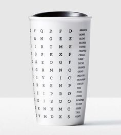Starbucks Word Search Ceramic Double Wall Traveler Tumbler Mug in Gift Box New #Starbucks