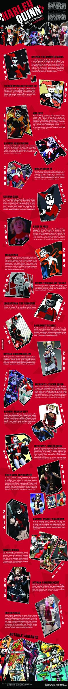 Witness the Evolution of Harley Quinn in This Insanely Detailed Infographic