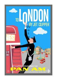 A3 SIZE PARIS BY CLIPPER vintage retro travel /& railways posters Print #3