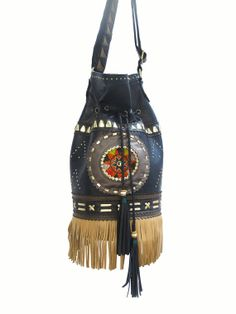 Souindha KatuKa Tassle Fringed Bucket Bag  Boho Hobo door Soulindha, $357.00