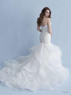 Disney Inspired Wedding Dresses, Princess Wedding Dresses, Bridal Dresses, Mermaid Wedding Gowns, Ruched Wedding Dress, Disney Weddings, Party Dresses, Marie, Allure Bridals