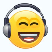 Listening To Headphones Smiley Skype Smiley Face Images, Animated Smiley Faces, Funny Emoji Faces, Emoticon Faces, Emoji Images, Cute Emoji, Animated Gif, Smiley T Shirt, Smiley Emoji