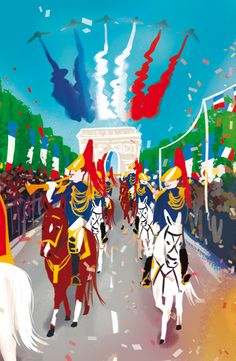 Fête nationale © Pioupiourico - illustration Georgia Noël-Wolinski. #culturefrançaise #france #patrimoine #jeu #enfant #famille #transmission #tradition #7familles #familyfirst