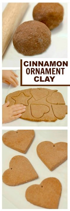 NO COOK CINNAMON SALT DOUGH- the easiest way to make cinnamon ornaments for the tree! Here is a simple way to make amazing cinnamon ornaments for your Christmas tree this year. This recipe requires NO COOKING, takes mere minutes to mix … Noel Christmas, Diy Christmas Ornaments, Christmas Projects, Winter Christmas, Holiday Crafts, Holiday Fun, Christmas Gifts, Christmas Ideas, Winter Kids