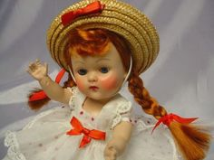 VOGUE Ginny 1952 Strung Auburn Braid Doll Lucy Outfit GORGEOUS #Ginny #Vogue