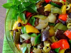 Salada de Berinjela - Veja mais em: http://www.cybercook.com.br/receita-de-salada-de-berinjela.html?codigo=14757