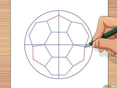 How to draw a soccer ball. soccer balls are fun to play with but can be unfamiliar to draw. the traditional soccer ball is made from two flat shapes, Soccer Decor, Soccer Gifts, Ball Drawing, Paper Drawing, Drawing Step, Drawing Art, Soccer Banquet, Soccer Ball, Soccer Cleats
