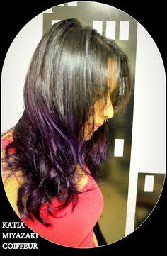 Katia Miyazaki Coiffeur - Salão de Beleza em Floripa: ombre hair colorido - ombre hair roxo - purple hai...
