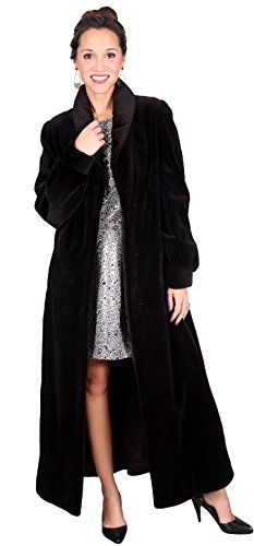 This beautiful sheared mink fur coat with shawl collar and swing is truly for the sophisticated woman. Tailored to perfection in this classic style, the shawl fur collar and full swing is a subtle expression of true elegance and exquisite style.       Famous Words of...  More details at https://jackets-lovers.bestselleroutlets.com/ladies-coats-jackets-vests/fur-faux-fur/product-review-for-sheared-full-length-mink-fur-coat-with-swing/