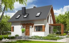 Projekt domu AC Lea (wersja B) CE - DOM - gotowy koszt budowy Casa Lea, Bungalow Renovation, Small House Design, Design Case, Ground Floor, Exterior Design, Future House, Planer, Bali