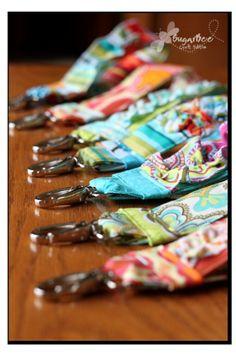 FREE Ruffled Keychain Fabric Key Fob Tutorial