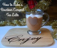 Is it teatime yet? Anytime is perfect for this Bourbon Caramel Tea Latte! The recipe is simple - all you need is Black tea, Torani Bourbon Caramel Syrup & Milk! viola :)