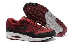 Nike Air Max 87 mens dark red black