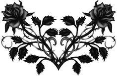 Black roses tattoo