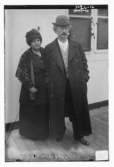 I.J. Paderewski and wife (LOC) by The Library of Congress, via Flickr