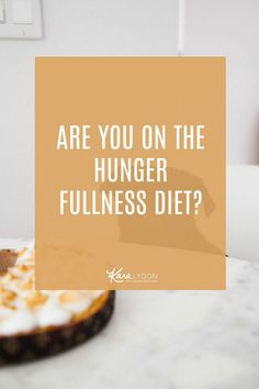 Are you applying diet mentality to intuitive eating? Are you on the hunger fullness diet? In this post, we dive into what listening to hunger/fullness means, how you know when it turns into a diet, and how to ditch the diet mentality. #intuitiveeating #haes