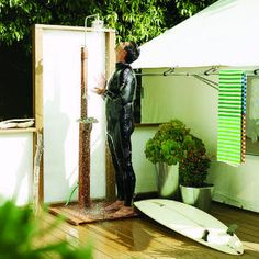 12 refreshing outdoor showers   Outdoor showers: Sunny spot   Sunset.com