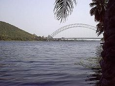 The Volta River located Ghana, Western Africa.