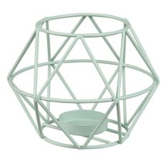 Candelabro de alambre de metal verde | Maisons du Monde